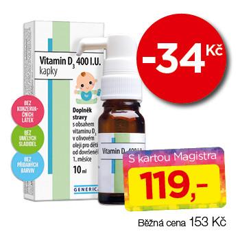 Vitamin D3 400 I.U.
