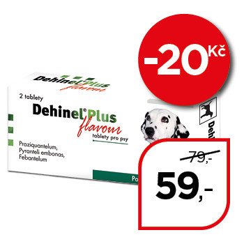 Dehinel® Plus flavour, tablety pro psy