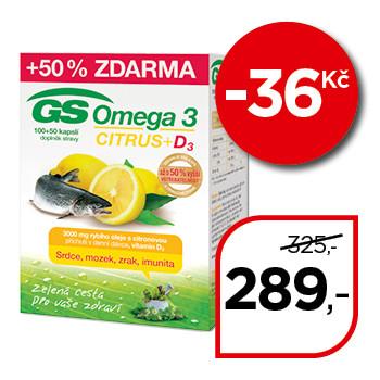 GS Omega 3 Citrus + vitaminem D