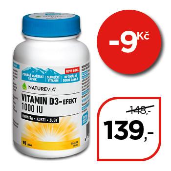 NatureVia® Vitamin D3-Efekt 1000 I.U.