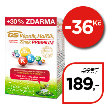GS Vápník Hořčík Zinek  Premium